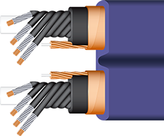 Wireworld Aurora Power Conditioning Cord cutaway, best, high-end, shielded, audiophile, videophile